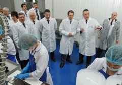In the Tyumen region, the opening of a fish processing plant